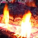 Foto eines Holzfeuers