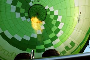 Foto von einem Heissluftballon