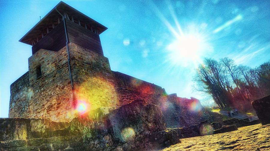 Foto einer Burgruine