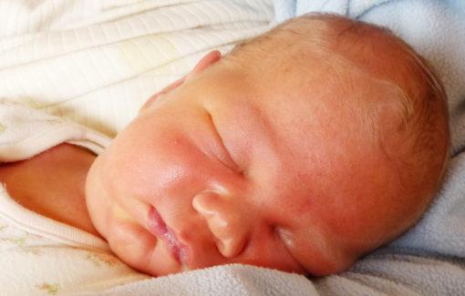 Foto von unserem Sohn Krishna, kurz nach der Geburt